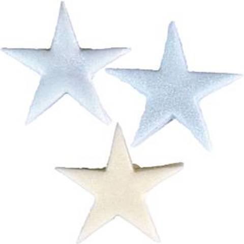 Bilde av Kakepynt Glitrende Stjerner Sukkertopper Blå 9stk