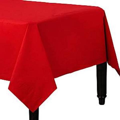 Bilde av Papirduk Rød m/Plastunderlag 90cm x 90cm 2stk