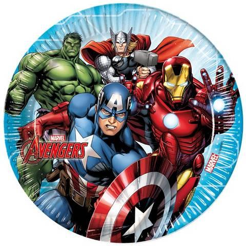 Bilde av Mighty Avengers Papptallerkner23cm 8stk