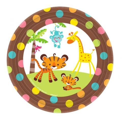 Bilde av Baby Shower Gutt&Jente Dessert Papptallerkner 17cm 8stk