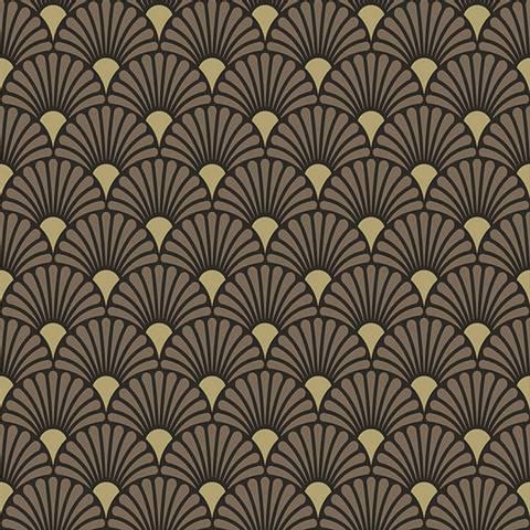 Bilde av Servietter Art Deco Svart Gull Lunsj 33cm 20stk