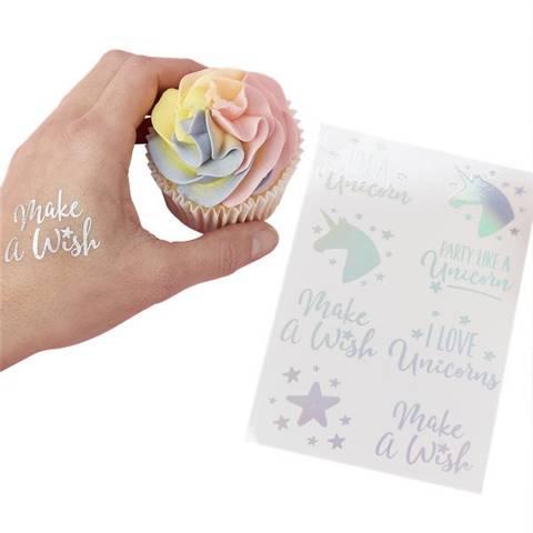 Bilde av Unicorn Wishes Irisiderende Folie Tatoveringer