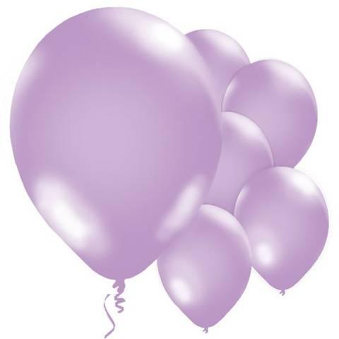 Bilde av Ballonger Lilla Metallic Lateks 28cm 10stk