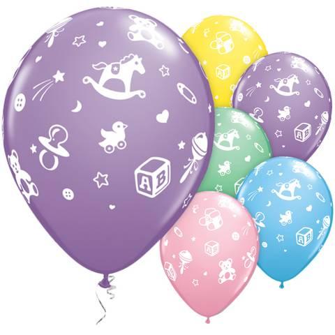 Bilde av Barnets Assorterte Ballonger Latex 28cm 8stk