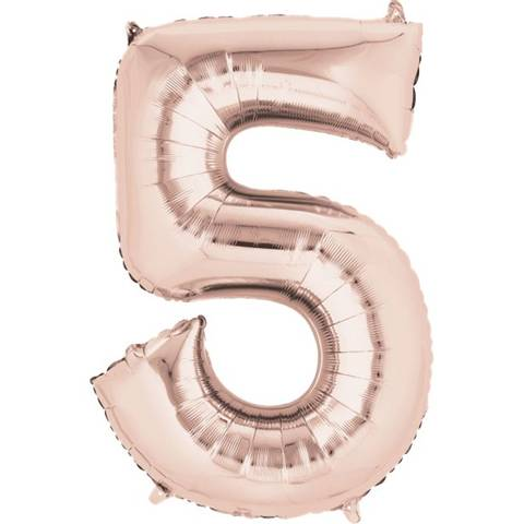 Bilde av Tallballong Folie Rosegull 86cm Nr.5
