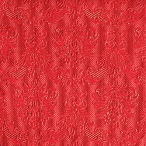 Bilde av Servietter Elegance Lunsj Rød 33cm 15stk